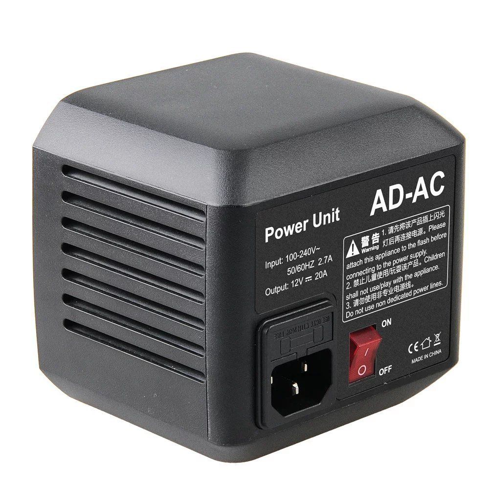 Godox AD-AC AC Power Unit Source Adapter with Cable for AD600B AD600BM AD600M AD600 цена