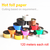 Foils Hot Stamping Paper Leather Hot Stamping 120 Meters According To Customer S Arbitrary Cutting Width