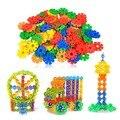 7 цвет Снежинка Jigsaaw головоломки для детские игрушки детские собраны строительные игрушки Развивающие игрушки подарок Строительство