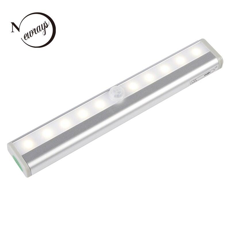Modern minimalist infrared sensor night light 10 LED oven induction night light bedroom bathroom wardrobe stairs corridor door