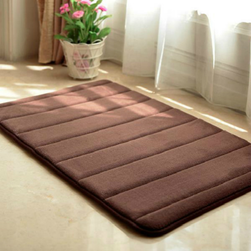 Water Absorption Rug Bathroom Mat Shaggy Memory Foam Bath
