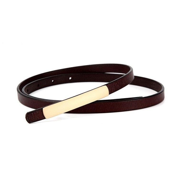 Genuine Leather belts for women black thin belt dress waistband cute Strap belt