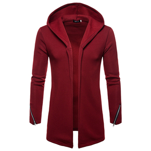 Image 2 - Plus size Men casual Hoodies Sweatshirts  Hooded Trench Coat autumn Fashion Long slim Fit Trench Coat Men Overcoat