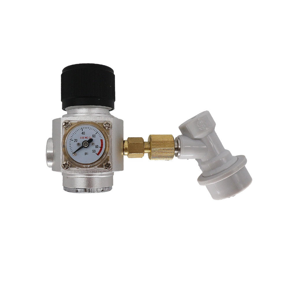 CO2 Mini Gas Regulator & corny keg ball lock disconnect for beer tap,homebrew GAS regulator,3/8  thread-in Beer Brewing from Home & Garden    1