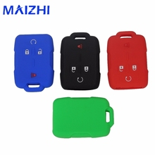 maizhi 4 Buttons Silicone Car Key Cover Case Fit For Cadillac /Chevrolet Silverado /GMC Sierra Car-styling No Logo
