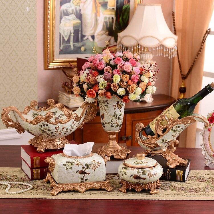Style salon décoration artisanat boîte casier à vin ameublement décoratif assiette de fruits cadeaux de mariage pendaison de crémaillère