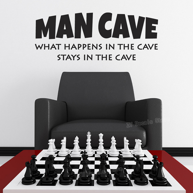 """""""What Happens In The Cave Stays In The Cave"""" Wall Stickers 6"""