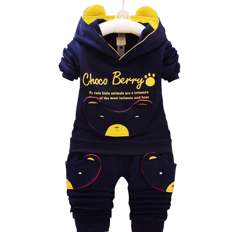 aed0db0b5 2018 New Chidren Kids Boys Clothing Set Autumn Winter 2 Piece Sets ...