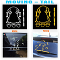 Reflective Car rear Window Wiper Decals Auto car styling 30.5*22cm Hot Sales Cartoon Funny Spotted dog Moving Tail Stickers