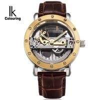 Famous Mens Watches Brand Luxury Retro Luminous Hands Skeleton Auto Mechanical Waterproof Wristwatch Genuine Strap Box Free Ship