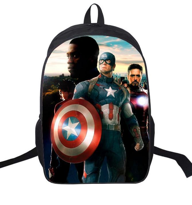 16-inch Mochila School Kids Backpack Captain America Iron Man Bag Avengers Backpack Chil ...