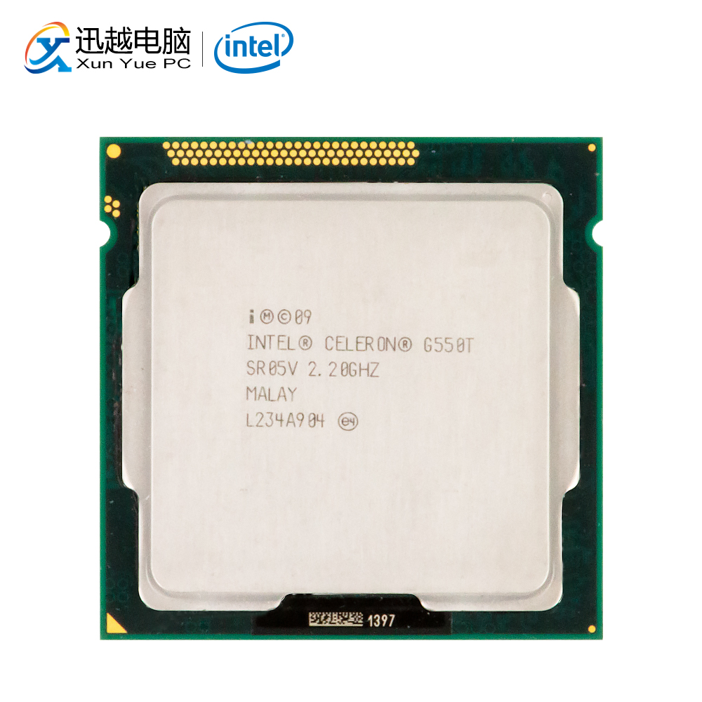 Intel Celeron G550T Desktop Processor G550T Dual-Core 2.2GHz 2MB L3 Cache LGA 1155 Server Used CPU