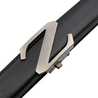 LannyQveen Men S Automatic Buckle Belt Alloy Z Cow Leather Belts For Men Business Style Fashion