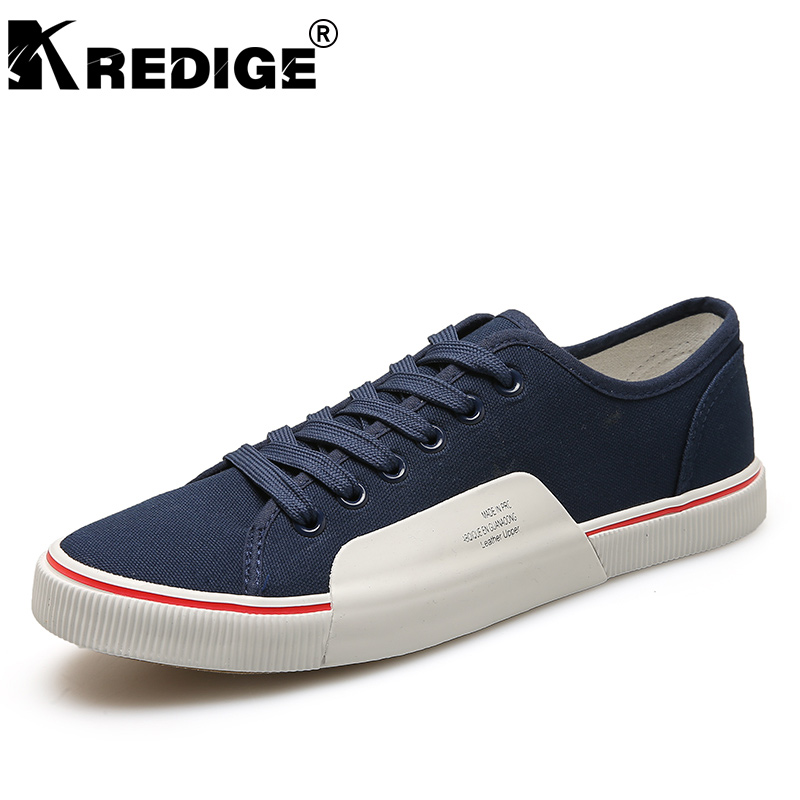 KREDIGE New Arrival Lace-Up Light Canvas Shoes Mens Hard-Wearing Soles Anti-Odor Casual Shoes Letter Pattern Low Men Shoes 39-44 kredige anti odor zip tide leather shoes hard wearing mens casual shoes pu breathable waterproof plate shoes british style 39 44