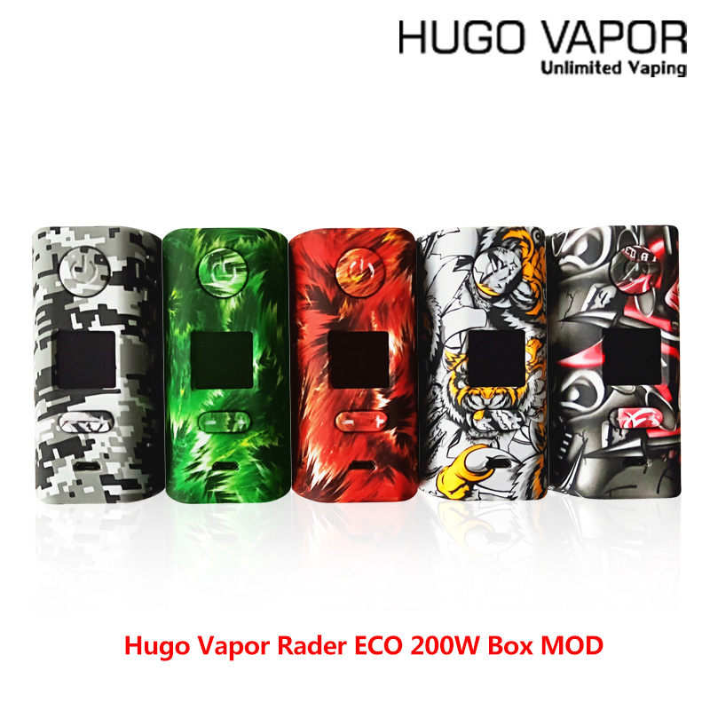 Original E cigs Hugo Vapor Rader ECO 200W Box MOD Light-weight Electronic Cigarette mod by dual 18650 vs Thro Pro Vape modOriginal E cigs Hugo Vapor Rader ECO 200W Box MOD Light-weight Electronic Cigarette mod by dual 18650 vs Thro Pro Vape mod