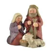 Сельская семья Иисуса детская и овечья статуя Мэри миниатюрные фугурины Святого Причастия украшения Marie Joseph церковное снабжение