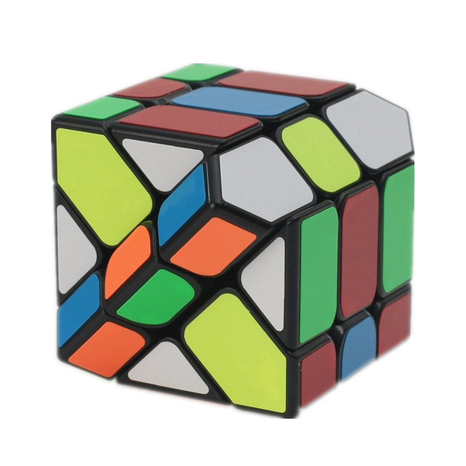 YongJun 3x3 Fisher Cube 3x3x3 Black And White Sticker Fisher Magic Cube 3Layers Speed Cube Professional Puzzle Toys For Children