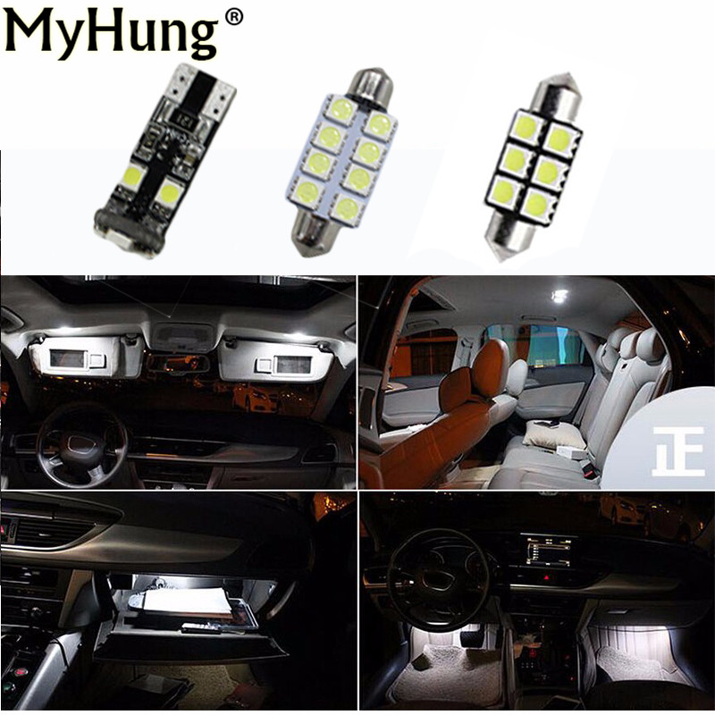 Canbus white  LED light interior  kit for Audi A4 S4 B6 B7 Avant  2002 - 2008 13 pcs 2pcs 12v 31mm 36mm 39mm 41mm canbus led auto festoon light error free interior doom lamp car styling for volvo bmw audi benz