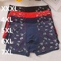 Free Shipping calzoncillos hombre Men's  bamboo fiber spandex underwear male boxers SIZE XXXL 4XL 5XL 6XL 7XL #7184R3