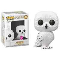 Exclusive Funko pop Official Harry Potter Flocked Hedwig Flocked Vinyl Action Figure Collectible Model Toy with Original Box