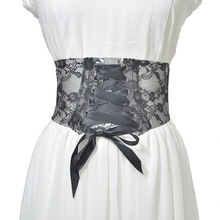 Best Selling New Ladies Wide Belt Wild pvc Lace Printed Girdle Women Wedding Dress Waist Band Corset C27