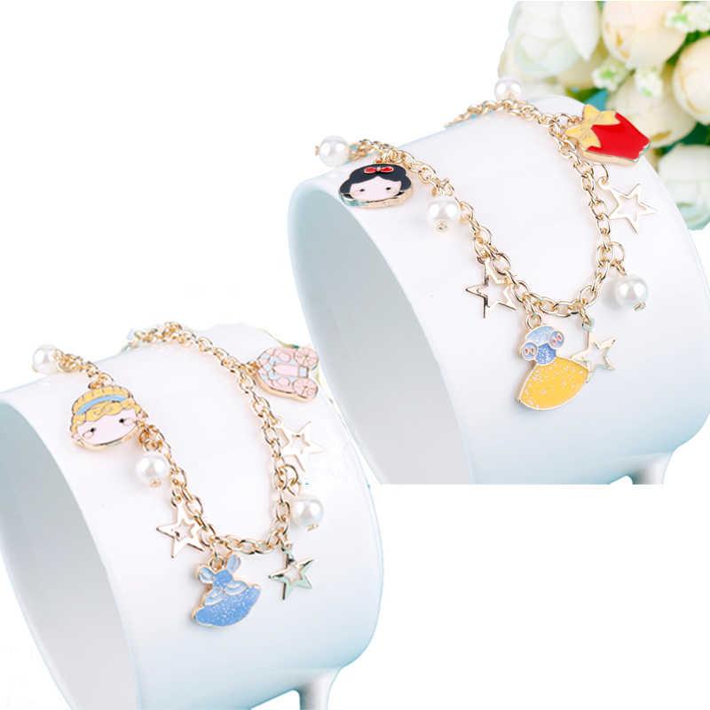 Новое поступление Для женщин ювелирные изделия Сладкий Стиль Браслеты имитация жемчуга браслет с дизайном «Принцесса» для девочек; с капюшоном и принтом подарок другу к дню рождения