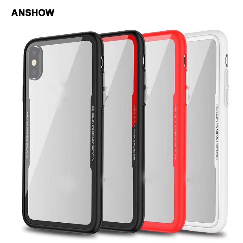0.7MM 9H Real Tempered Glass Case For Iphone XR XS MAX X 8 7 Plus 6 6S SE 5 5S Galaxy Note 9+Soft TPU Side  Cover 80PCS iPhone XR