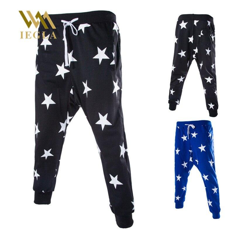 Harem Pants Men Striped Patchwork Hip Hop Star Printed Block Casual Joggers Sweatpants Trousers Male Streetwear Tracksuit