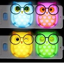 E-SMARTER Nightlight Auto Control Sensor Lamp Mini Owl Led Soft Lights Bedroom Lighting Wall Light EU Edition Automatic Light