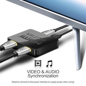 Image 4 - HDCP 4K HDMI Splitter Full HD 1080p Video Switch HDMI Switcher 1X2 Split 1 in 2 Out Amplificatore doppio Display Per HDTV DVD PS3 Xbox