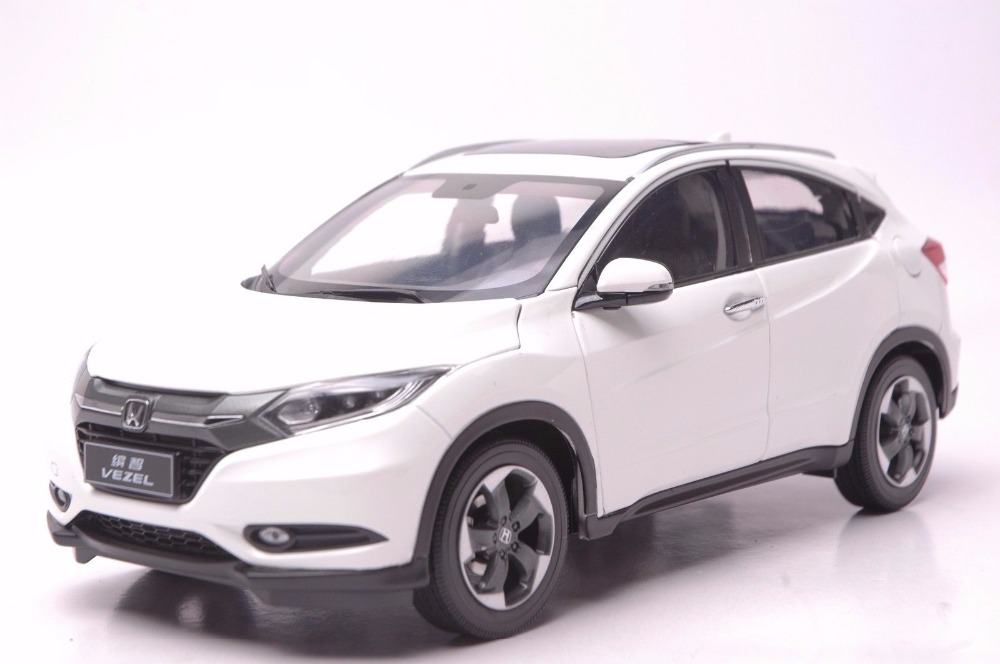 1:18 Diecast Model for Honda Vezel HR-V 2014 White SUV Alloy Toy Car Miniature Collection Gifts HRV HR V 1 18 diecast model for honda crider 2016 white sedan alloy toy car miniature collection gifts crv cr v
