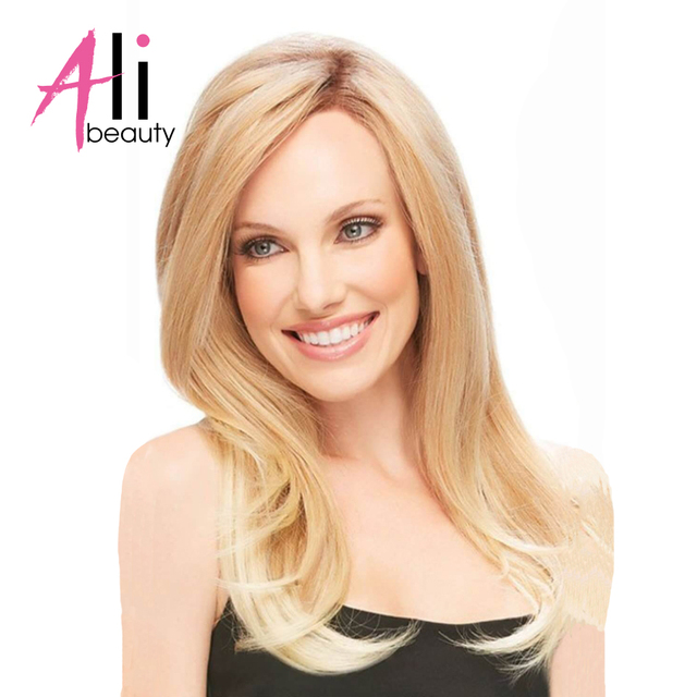 Ali Beauty 22 Inches Clip In Human Hair Extensions 613 Blonde Color