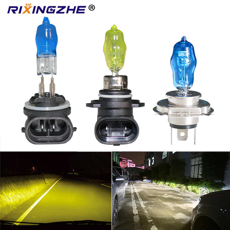 RXZ 2pcs HOD 881 H27 H1 H4 H7 H3 H11 9005/9006 100W Fog Light Headlight H27 5000K Halogen Bulb super White gold yellow 12v
