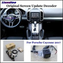 Liandlee For Porsche Cayenne 2017 Original Display Update System Car Rear Reverse Parking Camera Decoder Reversing system