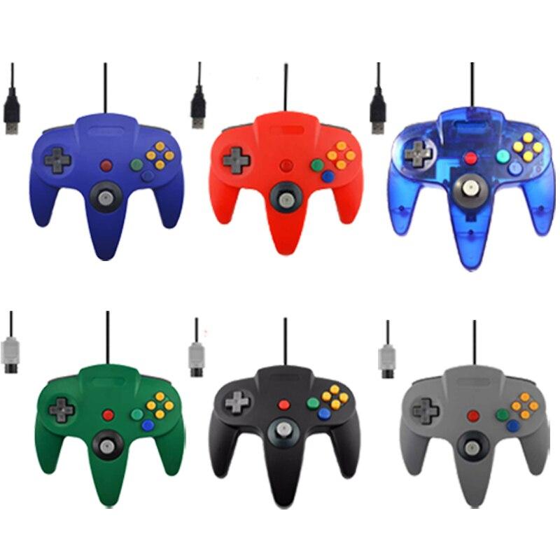 Wired Controller USB Per Nintend Giochi N64 Joystick Wired Gamepad Joypad Per Gamecube Controle Per N64 PC Per Mac Nero Gamepad