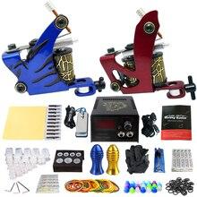 Solong Tattoo Professional Tattoo Kit 2 Guns Machines 50 Tattoo-machine Rubber Bands TK202-4