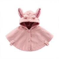 Baby Warm Coat For Girls hoodies Newborn Faux Fur Fleece Coats Cape Spring Winter Jacket Children Kids Solid One Size Outerwears