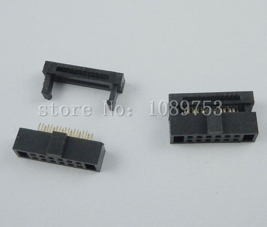 50 Pcs IDC Cable Connector FC-12P 12Pin Female Header 1.27mm Pitch 10 pcs idc fc pitch 2 0mm 34 pin cable female header socket connector 2x17 pin