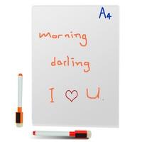 3pcs A4sizeMagnetic Whiteboard Writing Flexible Removable Home Decoration Message Fridge Flexible White Board For Kids Memo