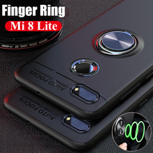 New Finger Ring Stand Holder Case for Xiaomi Mi 8 Lite Mi8 Pocophone F1 Back Cover Silicone Poco A2
