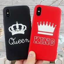 Luxury fashion couple Case Soft TPU Back Cover For iphone XS MAX 6 6S 7 8 Plus X XR 5S SE Phone Queen king