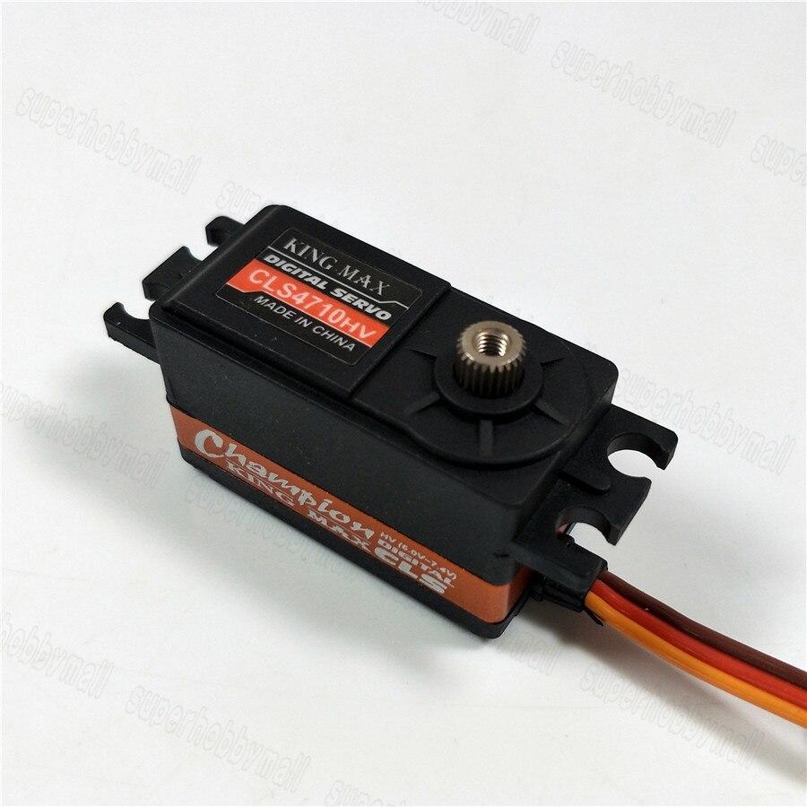 KINGMAX CLS4710HV 47g 10kg.cm High Voltage Low Profile Servo Metal Gear For RC Car fk sports cls 824