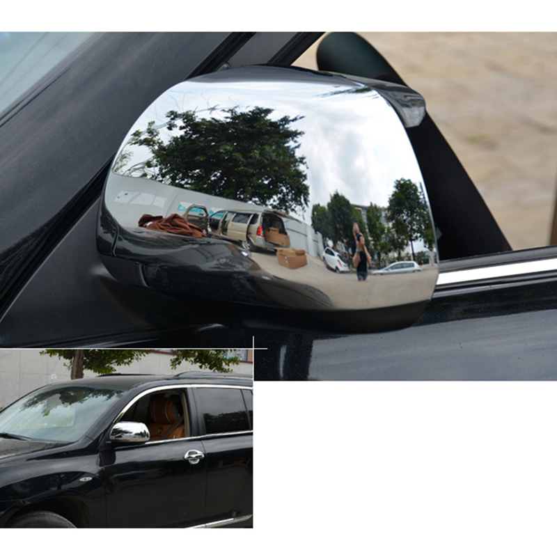 For Toyota Highlander 2008 2009 2010 2011 2012 2013 ABS Chrome Rearview Mirror Cover Trim Car Styling Frame Trim Decoration 2Pcs