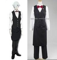 Смерти Бильярд парад смерти Dequim Униформа бармена косплей костюм, полный набор высшего класса костюм