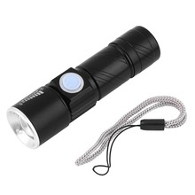 2000LM Q5 LED waterproof Super Bright Tactical Rechargeable Portable USB Flashlight Torch Zoom Adjustable