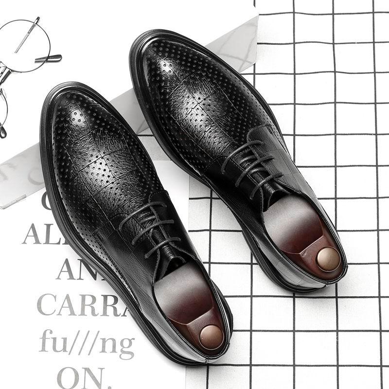 51dafa2a28 WEISHIMIBANG Summber New Men Preto Oxford Sapatos Moda Plataforma Dedo Do Pé  Redondo Rendas Até Cortar