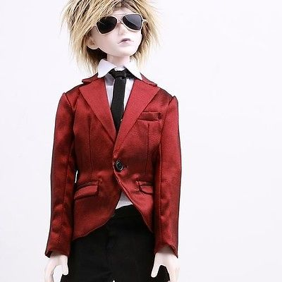 [wamami]507# Red Suit/Outfit 4pcs 1/4 MSD DOD BJD Boy Dollfie