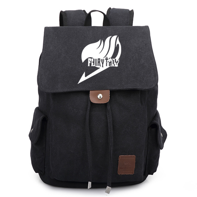 2017 New Fairy Tail Canvas Backpack Cosplay Natsu Anime School Bags Bookbag Rucksack Travel Bags sosw fashion anime theme death note cosplay notebook new school large writing journal 20 5cm 14 5cm
