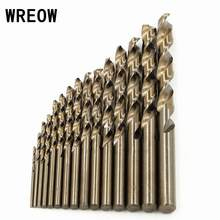 15 pc/Set 1.5-10mm HSS Drill Bit Set Cobalt M35 Twist Shank Lurus Milling Cutter Set untuk Daya lubang Saw Cutter Alat(China)
