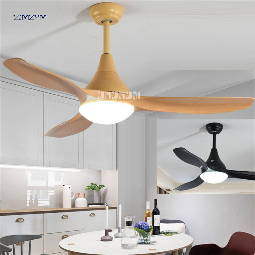 48 inch led 24w nordic mute ceiling fans with lights - Dining room ceiling fan ...
